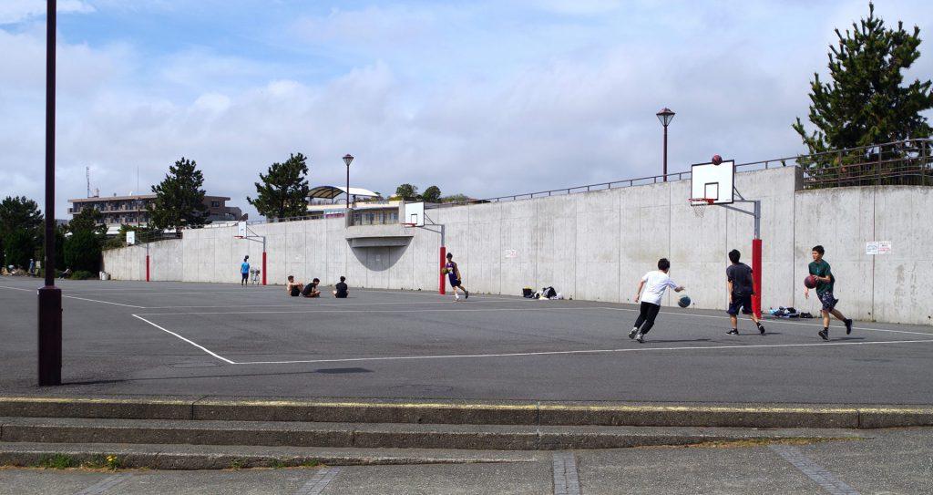 海の公園 バスケットゴール